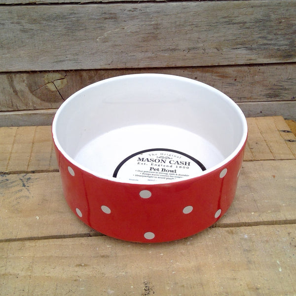 Mason Cash Polka Dot Dog Bowl (18cm)
