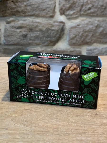 Dark Chocolate Mint Truffle Walnut Whirls