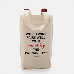 Smash The Patriarchy Canvas Wine Tote