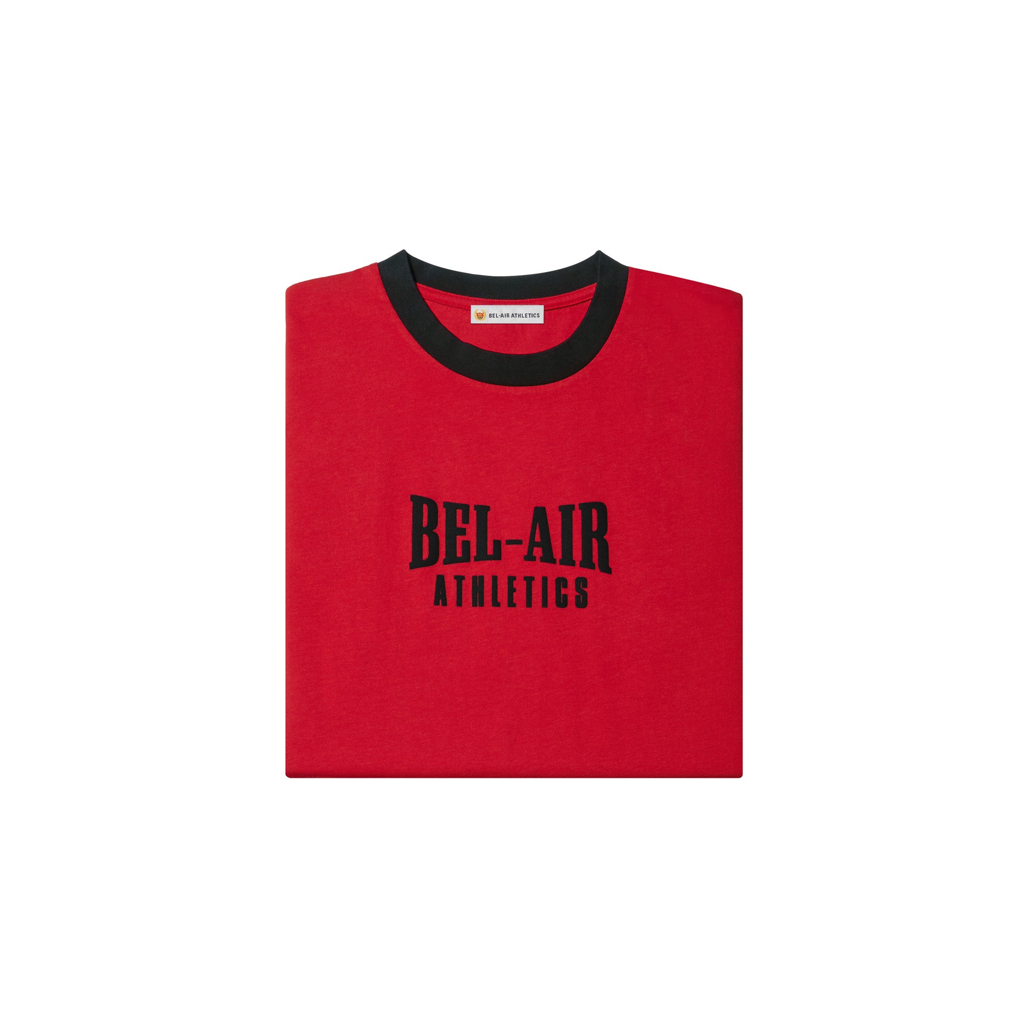 Puff print logo tshirt - Colorblock Academy Red/Vintage Black