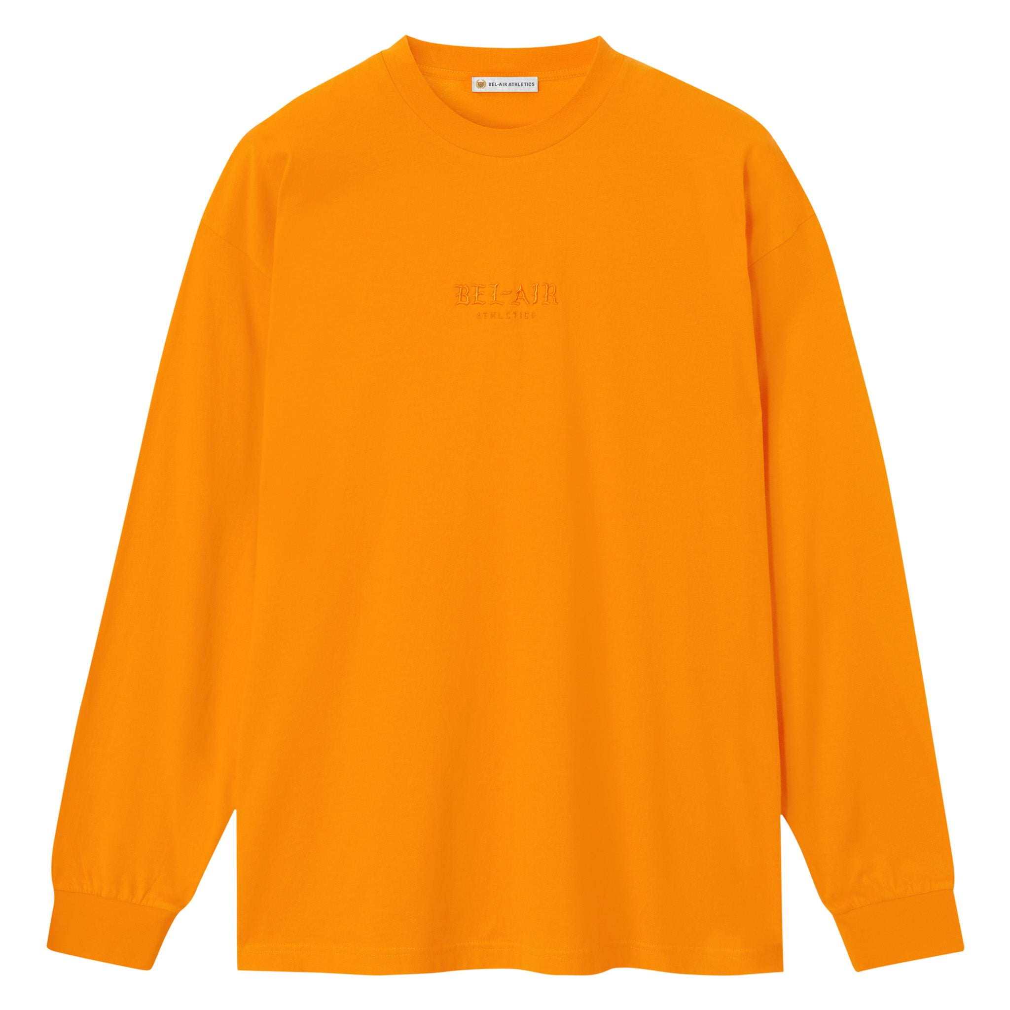 Gothic Font LS T-Shirt - BRIGHT ORANGE