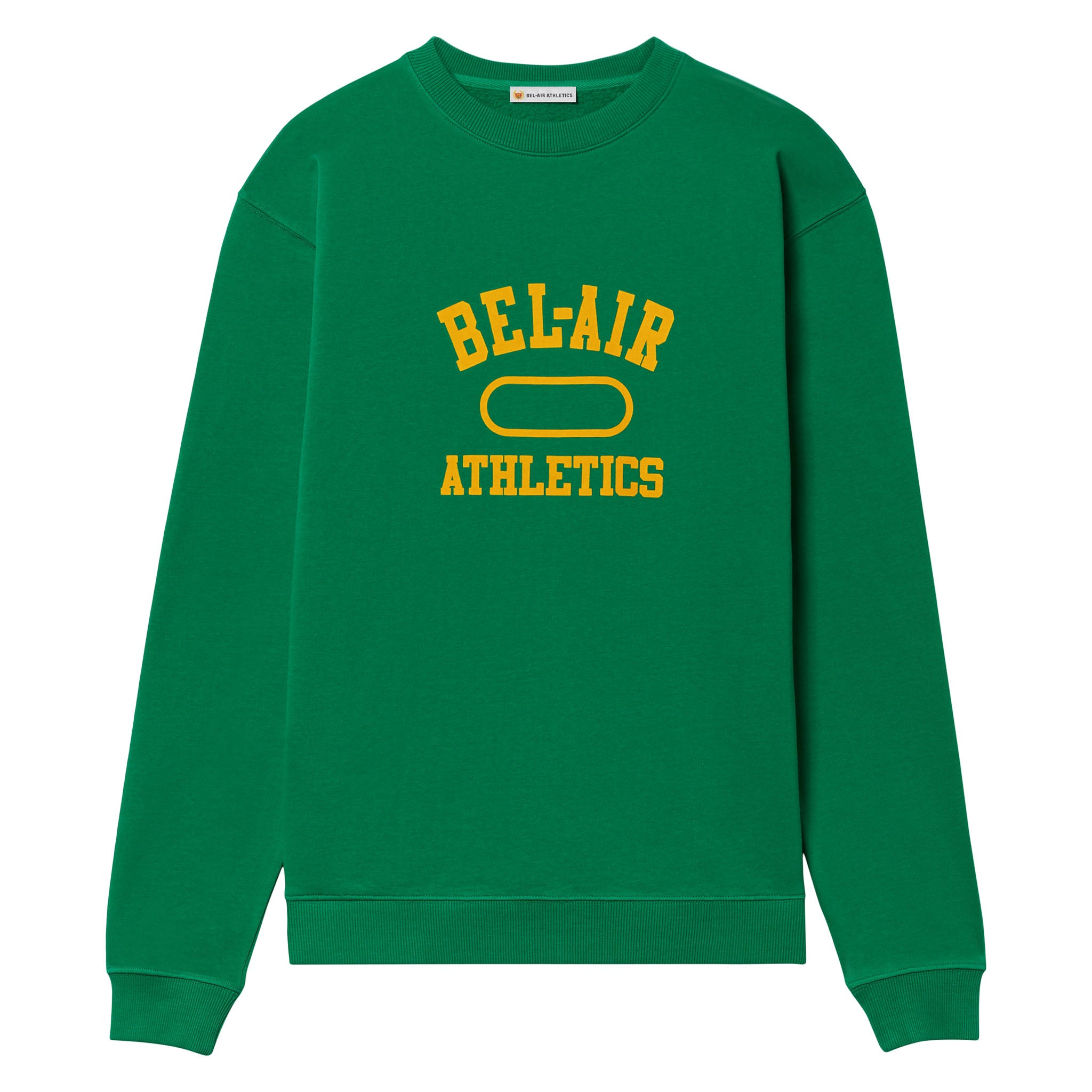 Gym Logo Crew Neck - Ivy with Collegiate Gold print