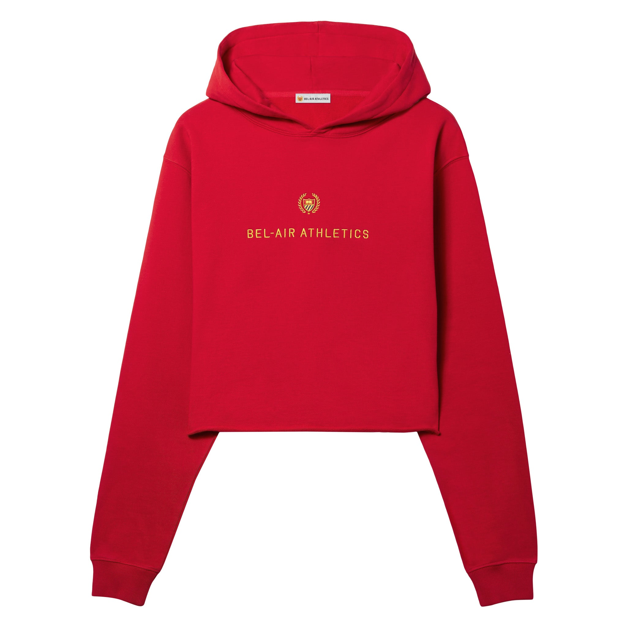 Academy crest cropped hoodie - ACADEMY RED