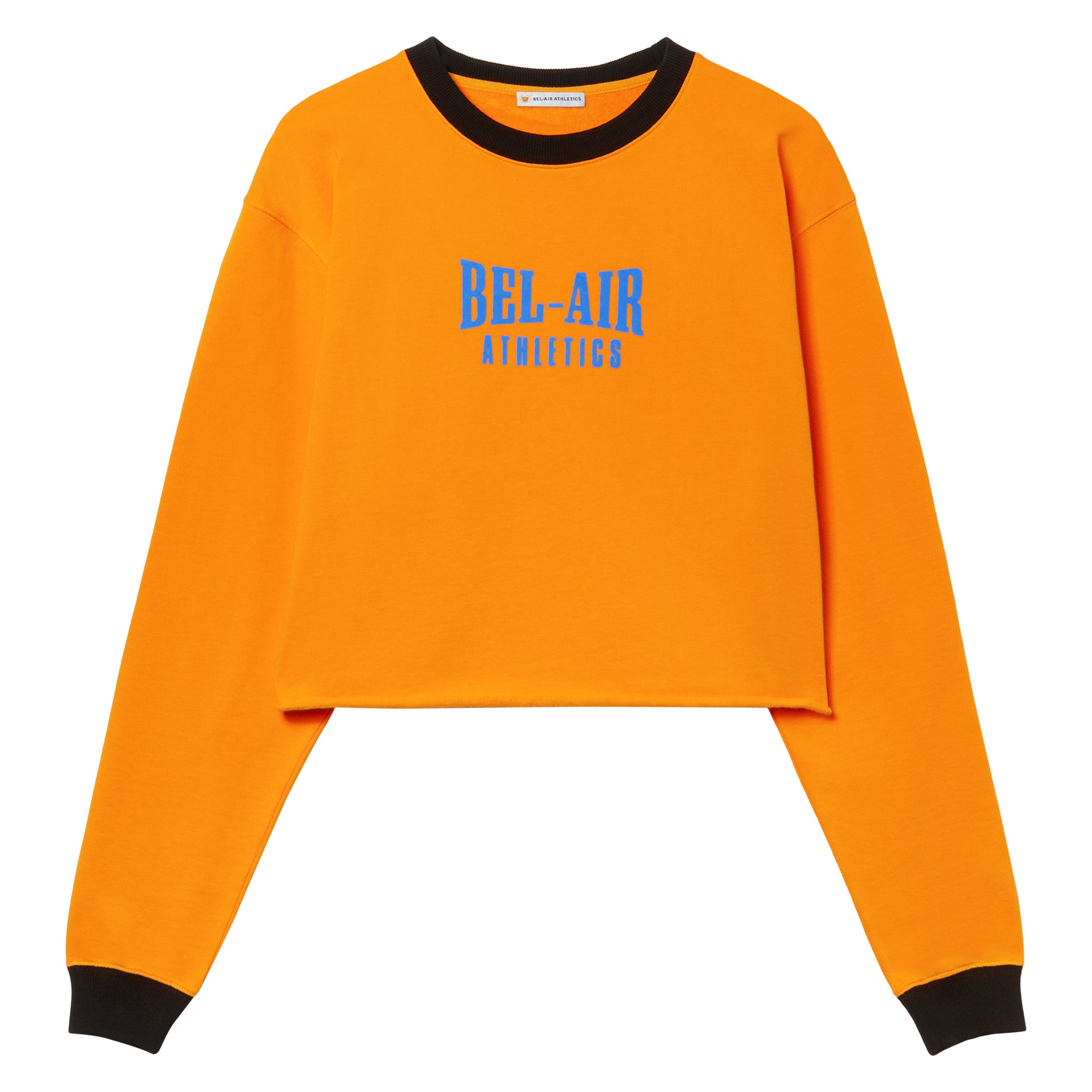 Puff logo cropped crew - Coloblock Sunset/Vintage Black
