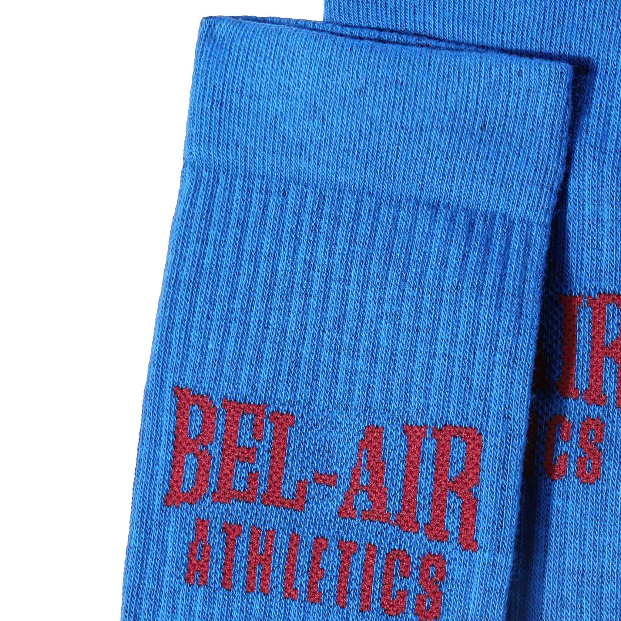 Bel Air Athletics Socks - Varsity Blue with Academy red jacquard