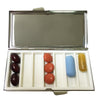 Seven Compartment Silver Plated Pill Box