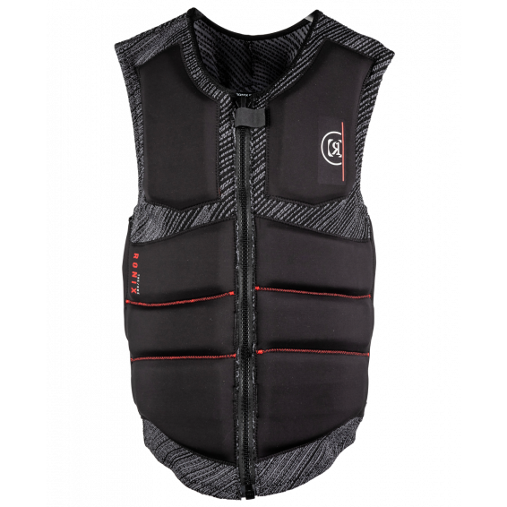 RONIX ONE CUSTOM FIT BOA ENGINEERED CHARCOAL / RED MENS IMPACT VEST 2021