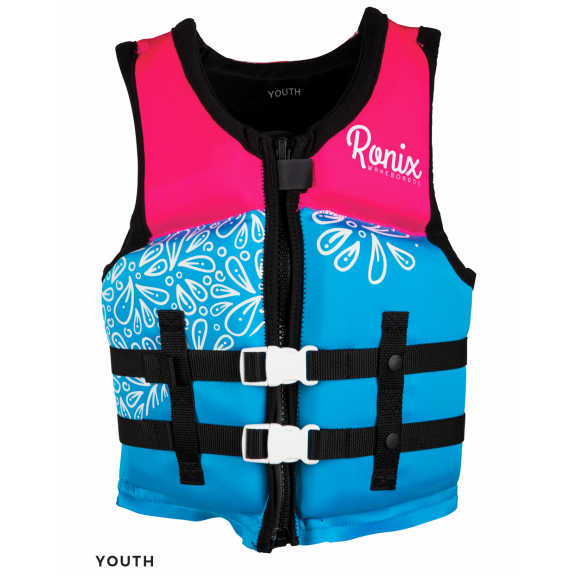 RONIX AUGUST CGA SKY BLUE/ PINK /WHITE (GIRLS) KIDS LIFE VEST 2021