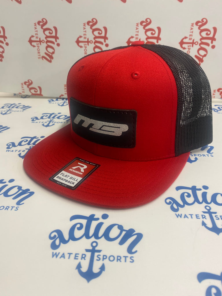 Snapback MB Boats Red/Black  Flatbill Hat