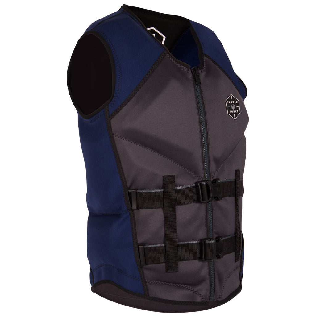 LIQUID FORCE WATSON CGA GREY/NAVY MENS VEST 2021