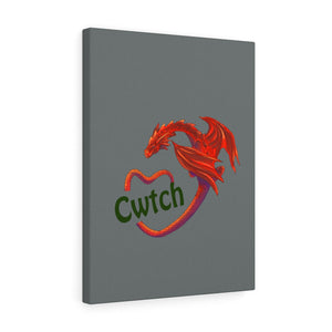 Cwtch Red Dragon Stretched Canvas