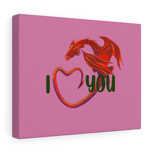 Welsh Dragon I Love You Stretched Canvas