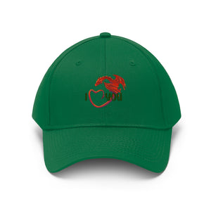 Welsh Dragon I Love You Unisex Twill Hat