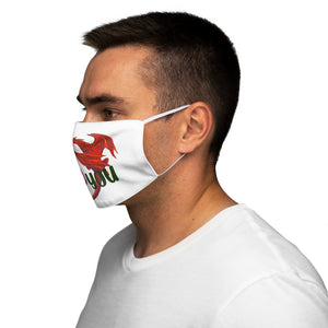 Welsh Dragon I Love You Face Cover Snug-Fit White