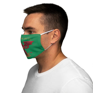 Welsh Dragon Cymru Am Byth Reusable Face Cover Snug-Fit Green