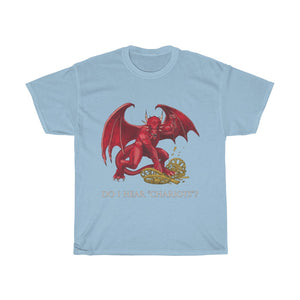 Cymraeg Welsh Dragon Unisex Heavy Cotton Tee