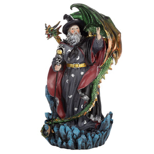 Merlin The Welsh Wizard and Dragon Figurine