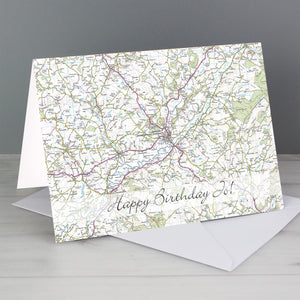 Present Day Map Card