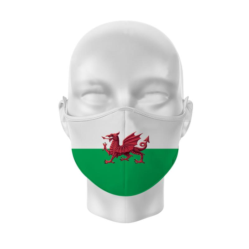 Welsh Flag Reusable Adjustable Face Cover
