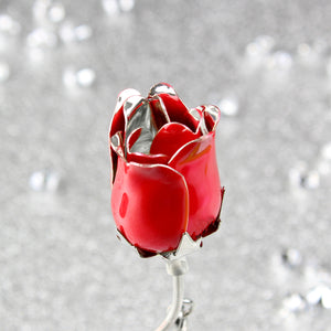 Red Rose Bud Ornament