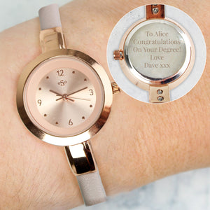 Leather Strap Ladies Watch