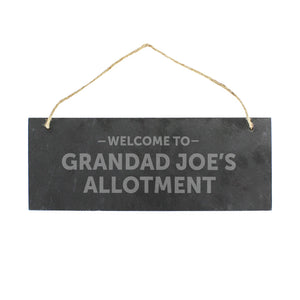Hanging Slate Plaque
