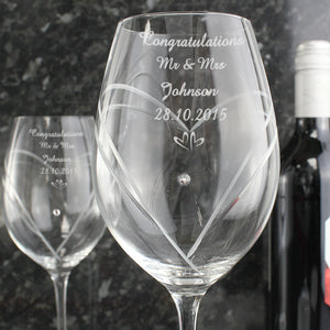 Diamante Wine Glasses