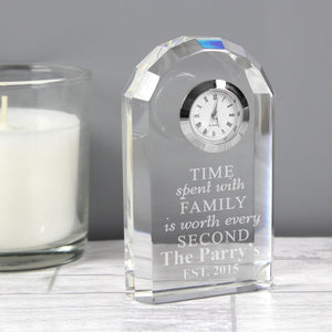 Family Crystal Clock