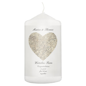Heart Map Candle