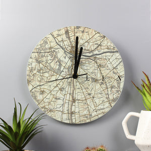 Glass Map Clock