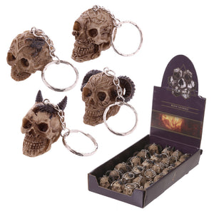 Celtic Skull Head Key Ring