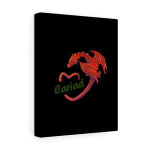 Cariad Love Red Dragon Stretched Canvas