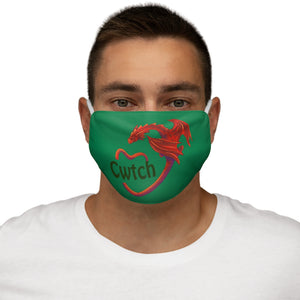 Cwtch Red Dragon Face Cover Snug-Fit Green