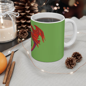 Cwtch Red Dragon Mug 11oz Green