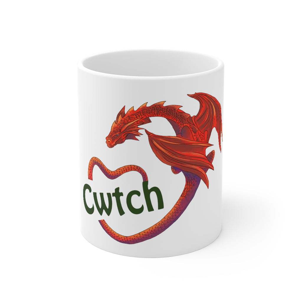Cwtch Red Dragon Mug 11oz White