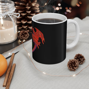Cariad Love Red Dragon Mug 11oz Black