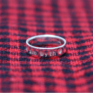 Yn Fy Nghalon Am Byth Sterling Silver or Gold Plated Ring