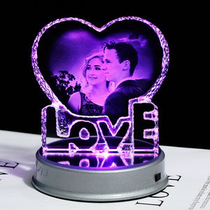 Personalised Laser Engraved Crystal Ornament Multi Colour Display