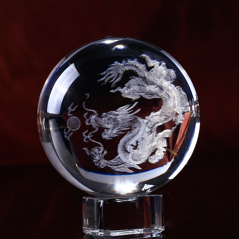 Crystal Dragon Ball 3D Laser Engraved K9