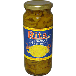 Rita Hot Banana Pepper Rings