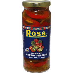 Rosa Sliced Hot Cherry Peppers
