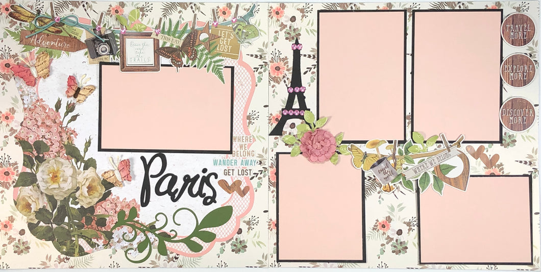 Paris Pre-Made Scrapbook Layout