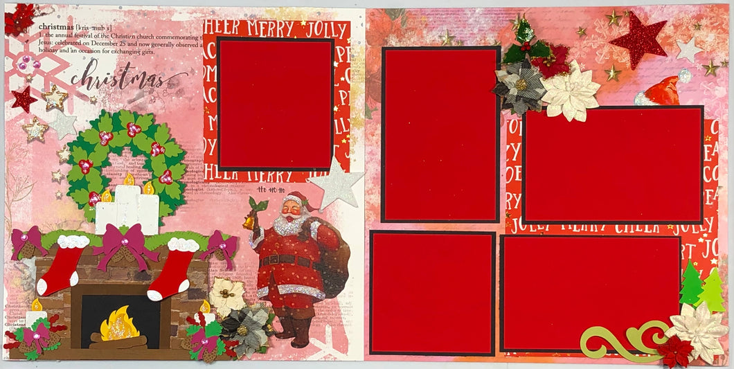 Christmas Hearth Scrapbook Layout Kit