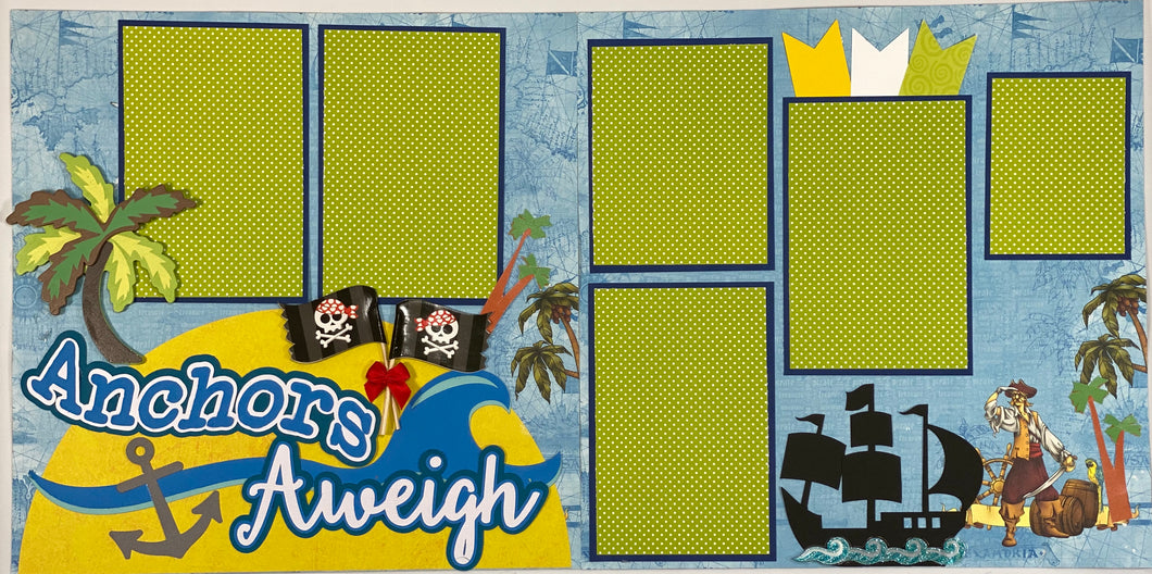 Anchors Aweigh Scrapbook Layout Kit