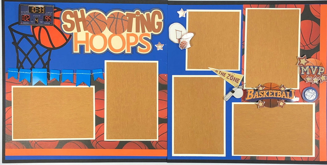 Shooting Hoops Scrapbook Layout Kit