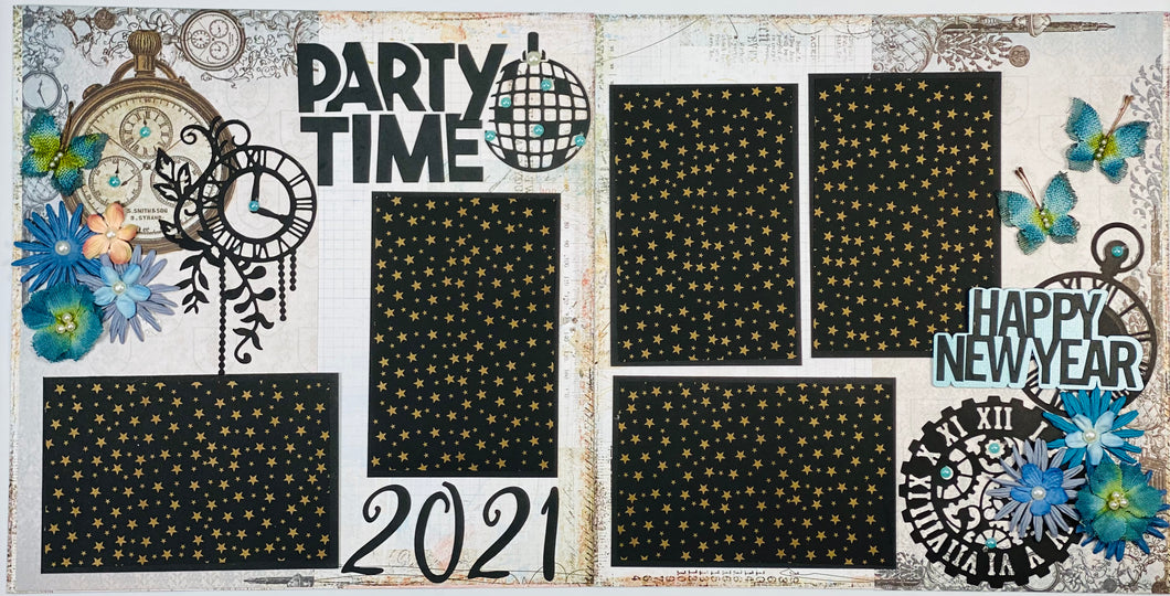 Party Time 2021 Scrapbook Layout Kit