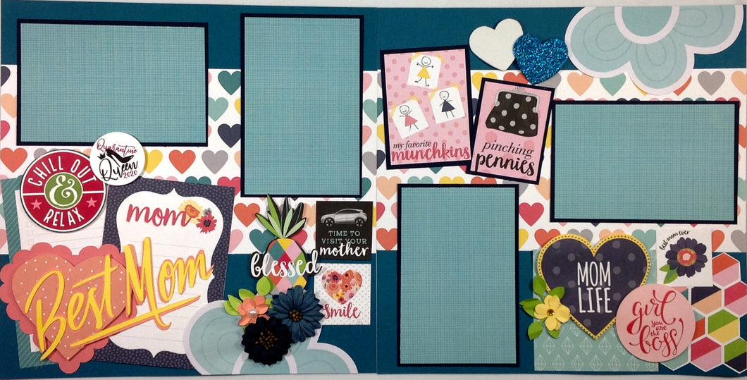 Best Mom - The Quarantine Queen Scrapbook Layout Kit