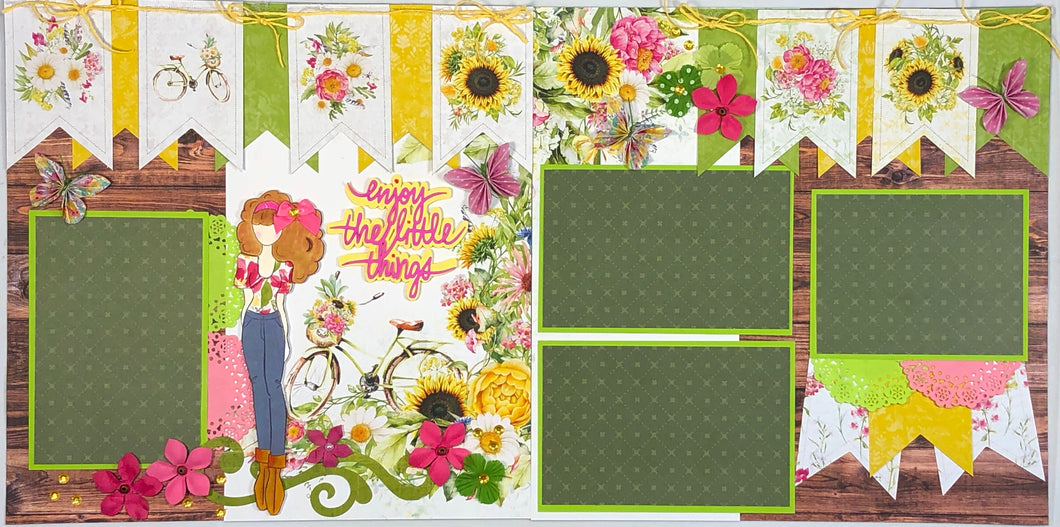 Enjoy the Little Things Scrapbook Layout Kit