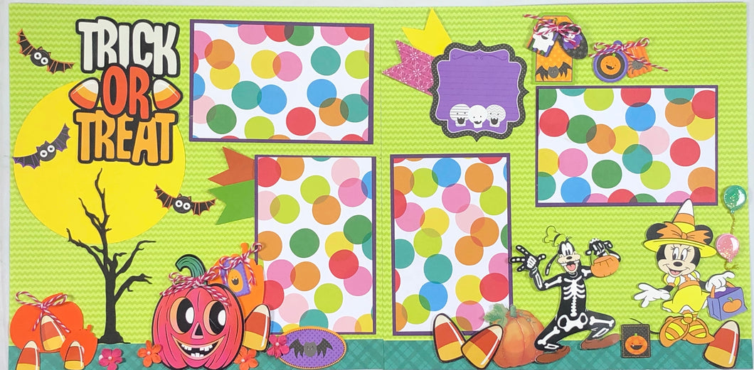 Trick or Treat Scrapbook Layout Kit
