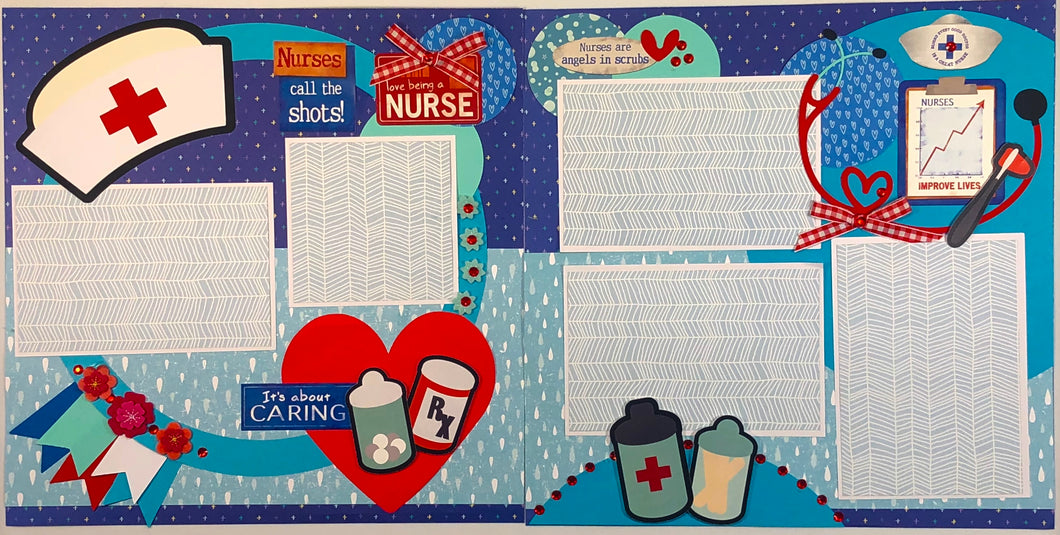 Nursing Pre-Made Scrapbook Layout